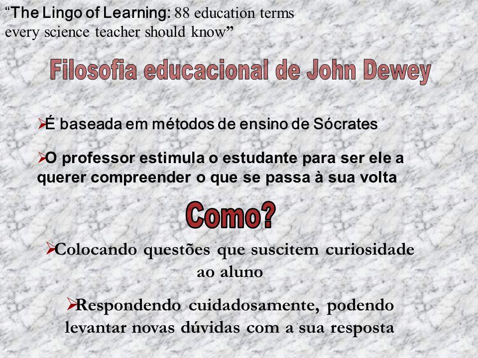 The Lingo of Learning: 88 education terms every science teacher should know Guiar o estudante para que seja ele a construir novo conhecimento