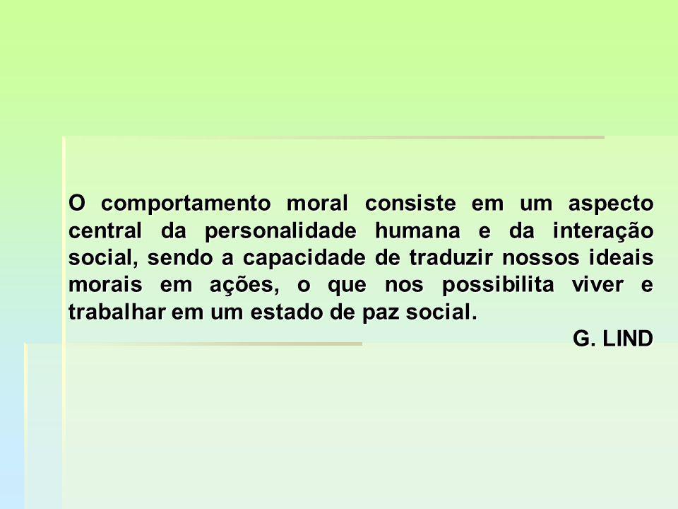 O comportamento moral consiste em um aspecto central da personalidade humana e da interação social, sendo a capacidade de traduzir nossos ideais morai