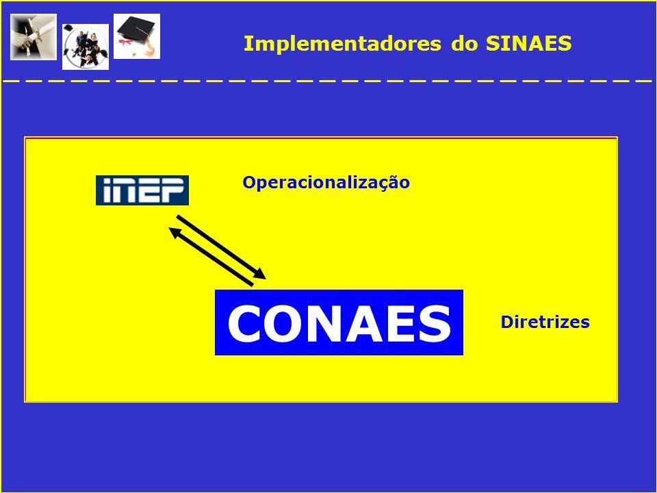 Implementadores do SINAES CONAES Diretrizes Operacionalização