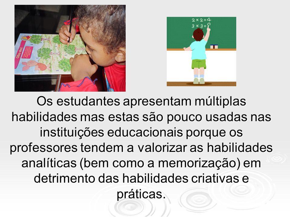 Concordância conceitual Os pesquisadores concordam que é necessário distinguir entre:  Habilidade escolar comum para dominar a informação de uma área, reproduzi-la e usa-la independentemente (habilidade acadêmica) (Medida pelo ENADE).