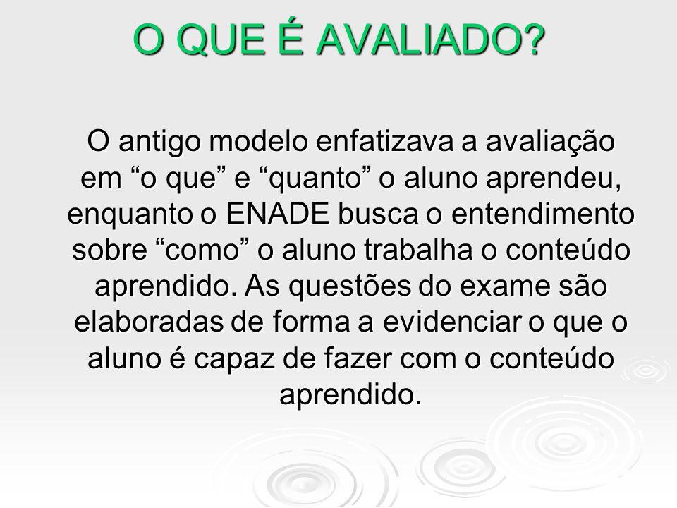 O ENADE AVALIA A TRAJETÓRIA DO ESTUDANTE POTENCIAL DE APRENDIZAGEM AQUISIÇÃO DE DOMÍNIO COMPETÊNCIAS PROFISSIONAIS