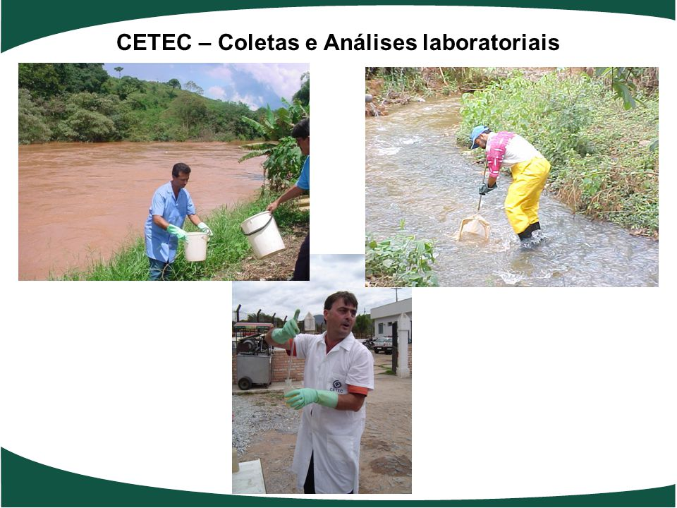 CETEC – Coletas e Análises laboratoriais