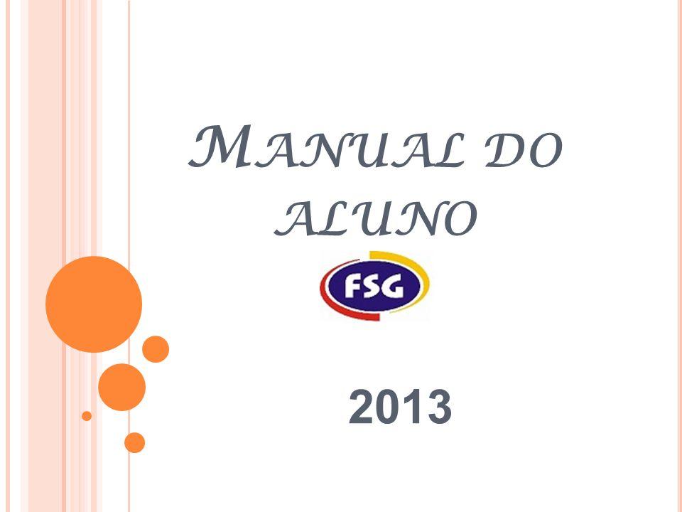 M ANUAL DO ALUNO 2013