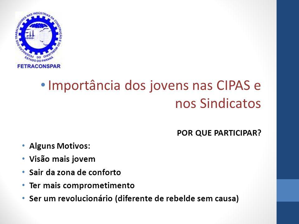 Importância dos jovens nas CIPAS e nos Sindicatos POR QUE PARTICIPAR.