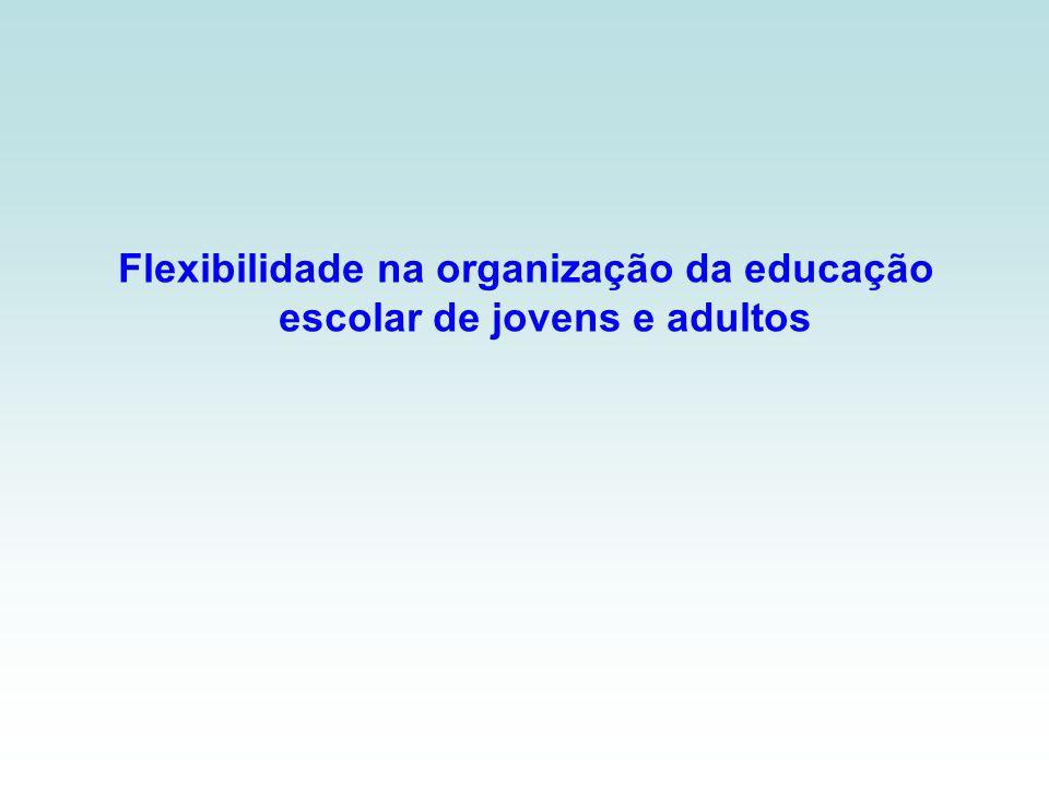 Flexibilidade na organização da educação escolar de jovens e adultos