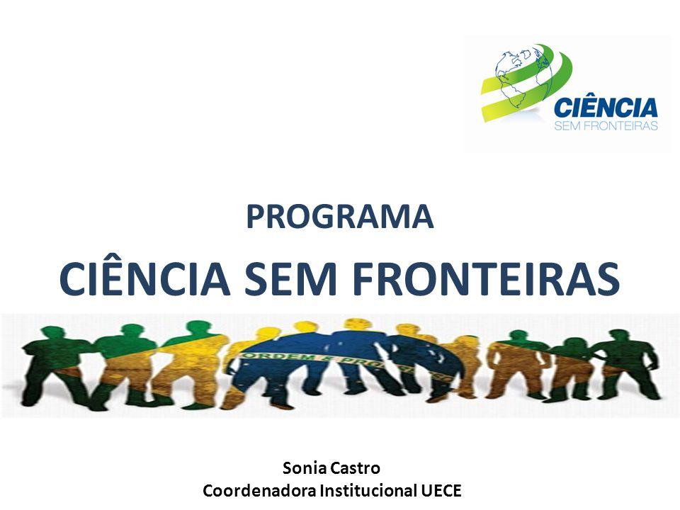 PROGRAMA CIÊNCIA SEM FRONTEIRAS Sonia Castro Coordenadora Institucional UECE
