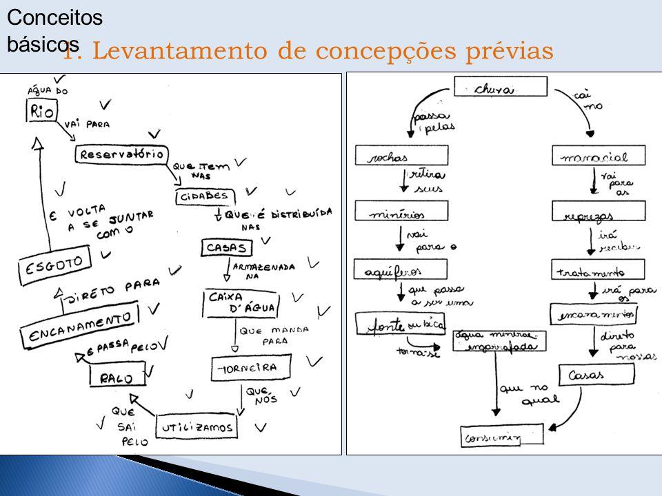 1. Levantamento de concepções prévias Conceitos básicos