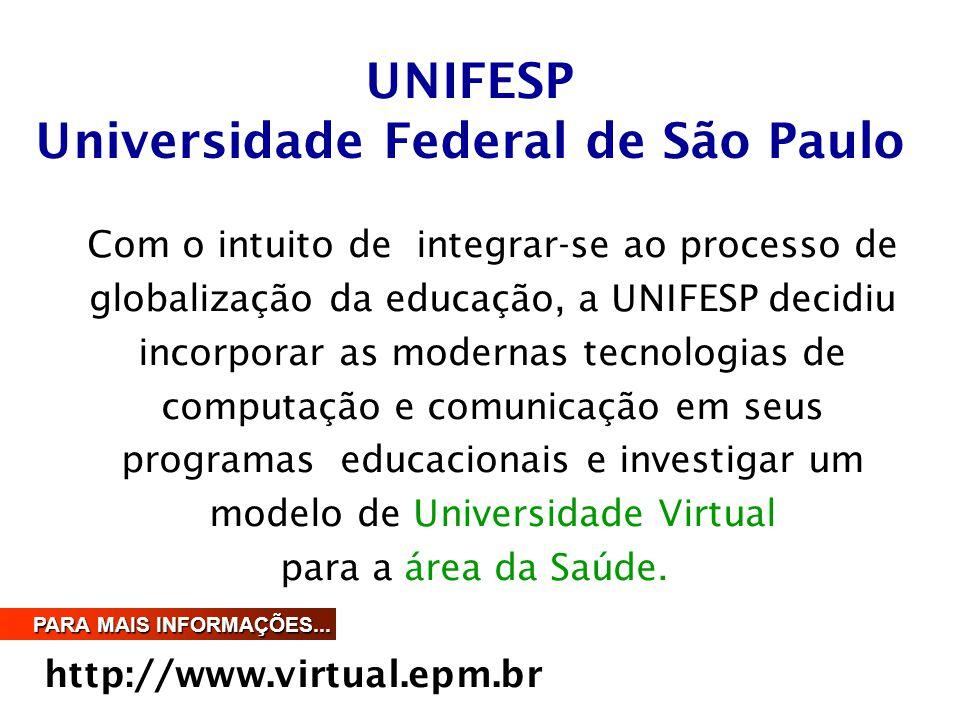 Com o intuito de integrar-se ao processo de globalização da educação, a UNIFESP decidiu incorporar as modernas tecnologias de computação e comunicação