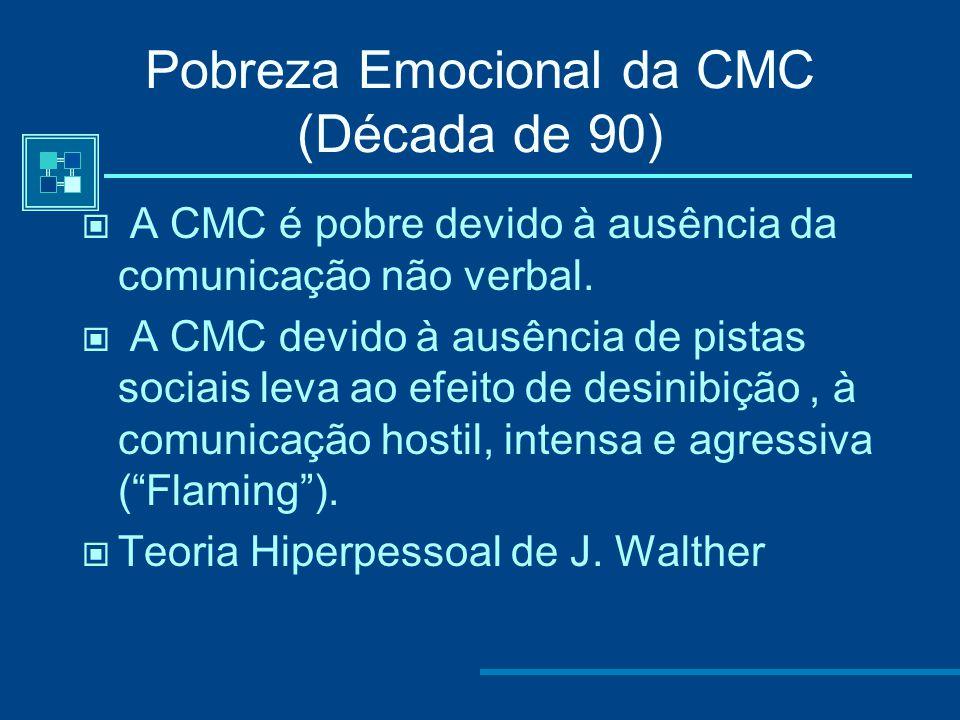 Crato,Morgado, Quintas-Mendes (2007) As expressões de conteúdo Sócio-Emocional na comunicação online são constantes em todos os contextos da situação