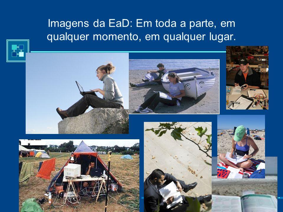 """Imagens da EaD: Espaço-Tempo """"Em toda a parte em qualquer lugar""""."""