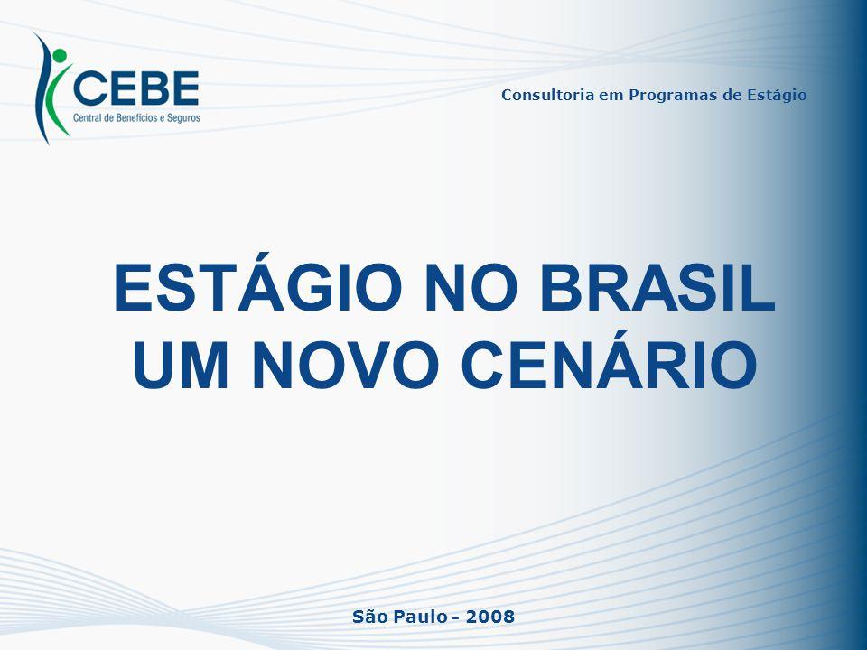 São Paulo - 2008 ESTÁGIO NO BRASIL UM NOVO CENÁRIO Consultoria em Programas de Estágio