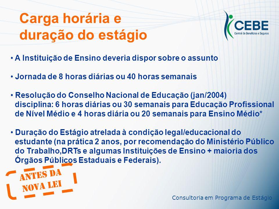 Consultoria em Programa de Estágio A legalização Termo de Compromisso de Estágio Instrumento Jurídico Plano de Atividades do Estágio Seguro contra aci