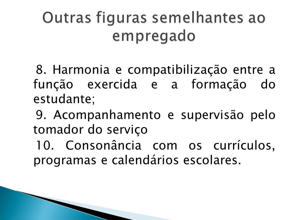 3. Celebração de termo de compromisso, salvo no caso de ações comunitárias; 4. Interveniência da instituição de ensino; 5. Seguro de acidentes pessoai