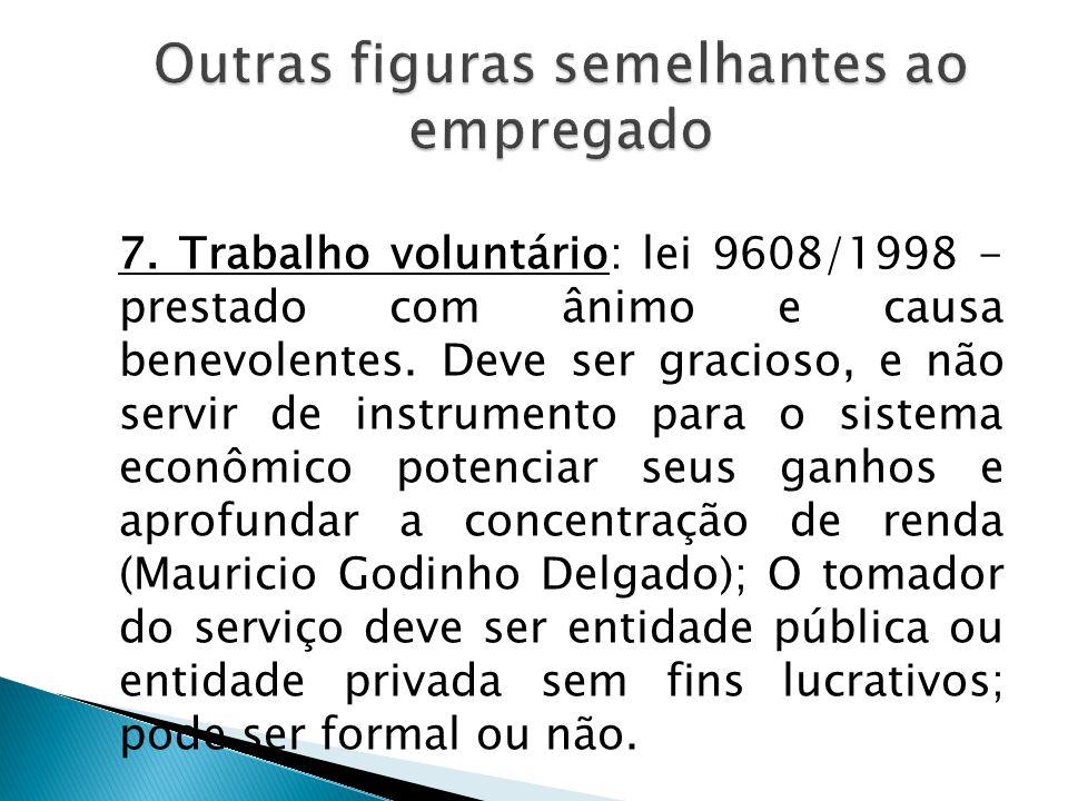 8. Harmonia e compatibilização entre a função exercida e a formação do estudante; 9.