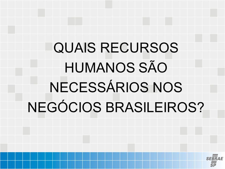 QUAIS RECURSOS HUMANOS SÃO NECESSÁRIOS NOS NEGÓCIOS BRASILEIROS?