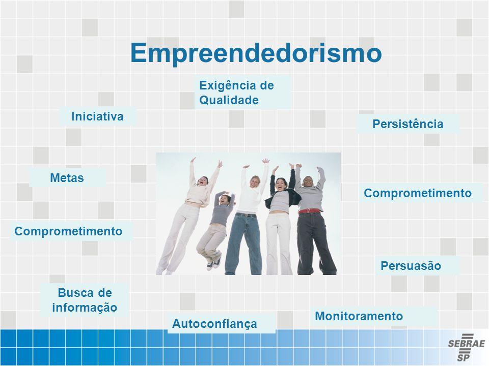 Empreendedorismo Iniciativa Persistência Exigência de Qualidade Busca de informação Metas Monitoramento Persuasão Autoconfiança Comprometimento