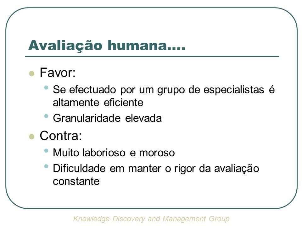 Avaliação humana....