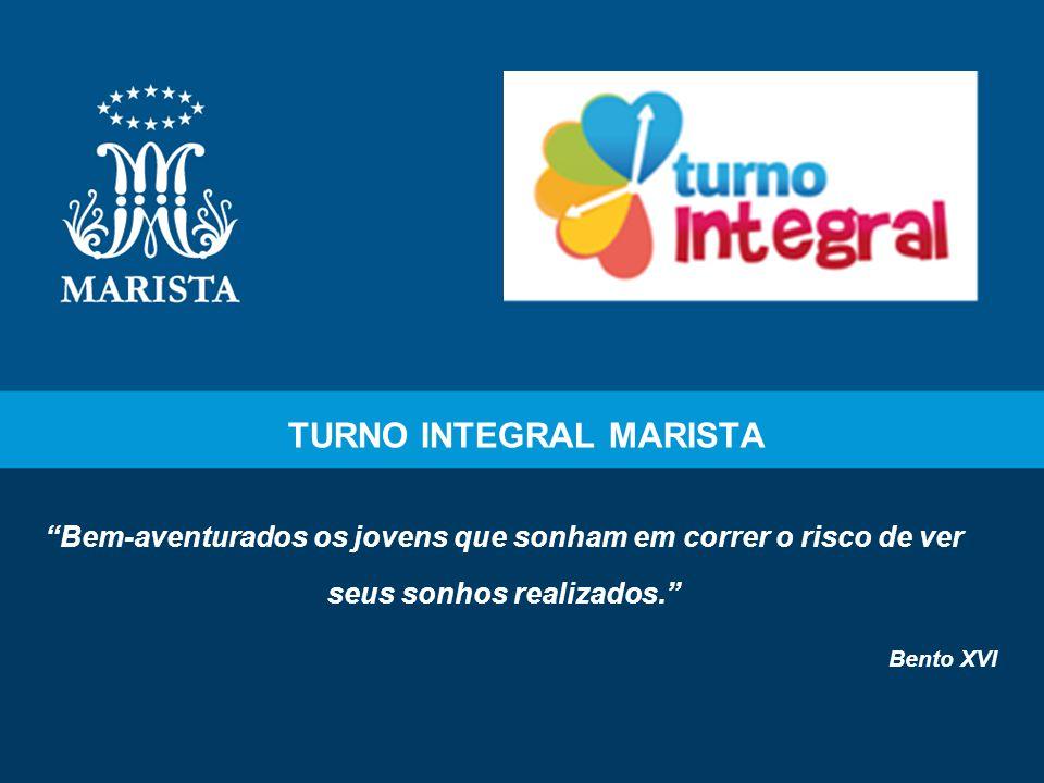 2 Histórico do projeto O Turno Integral Marista surgiu em 1999, com o objetivo de complementar a formação integral do estudante, por meio da educação humanista, cristã, solidária e participativa, baseada nos princípios Marista.