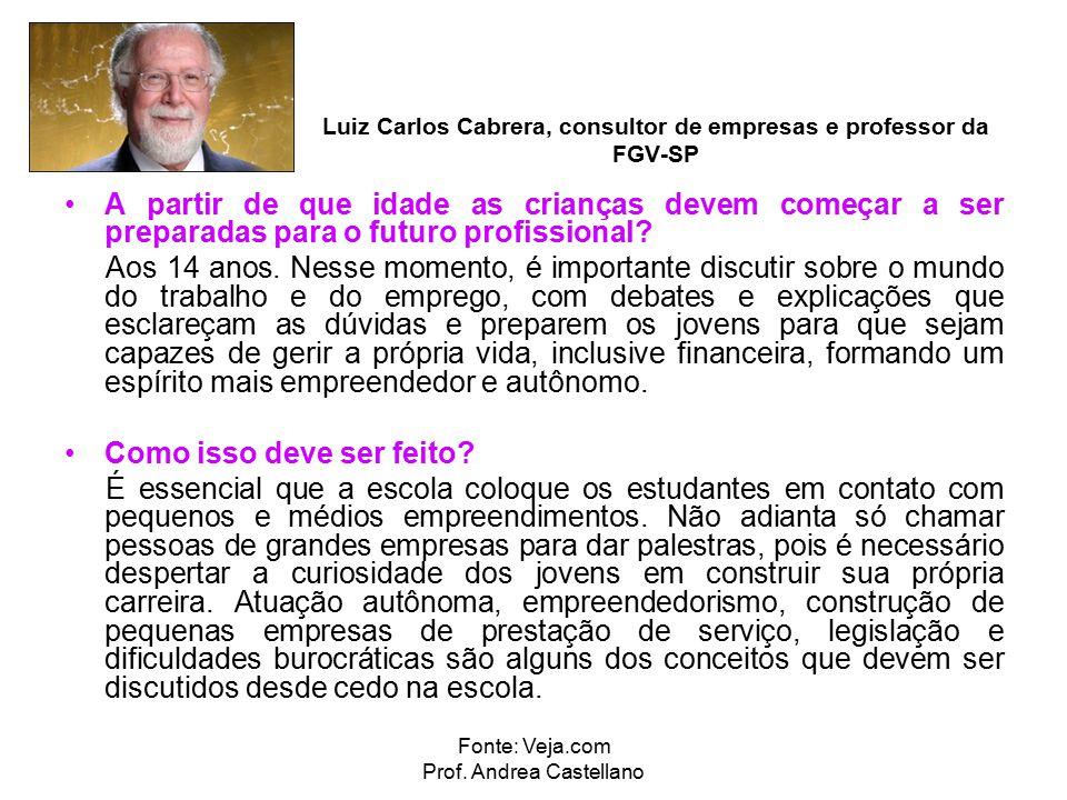 Fonte: Veja.com Prof. Andrea Castellano
