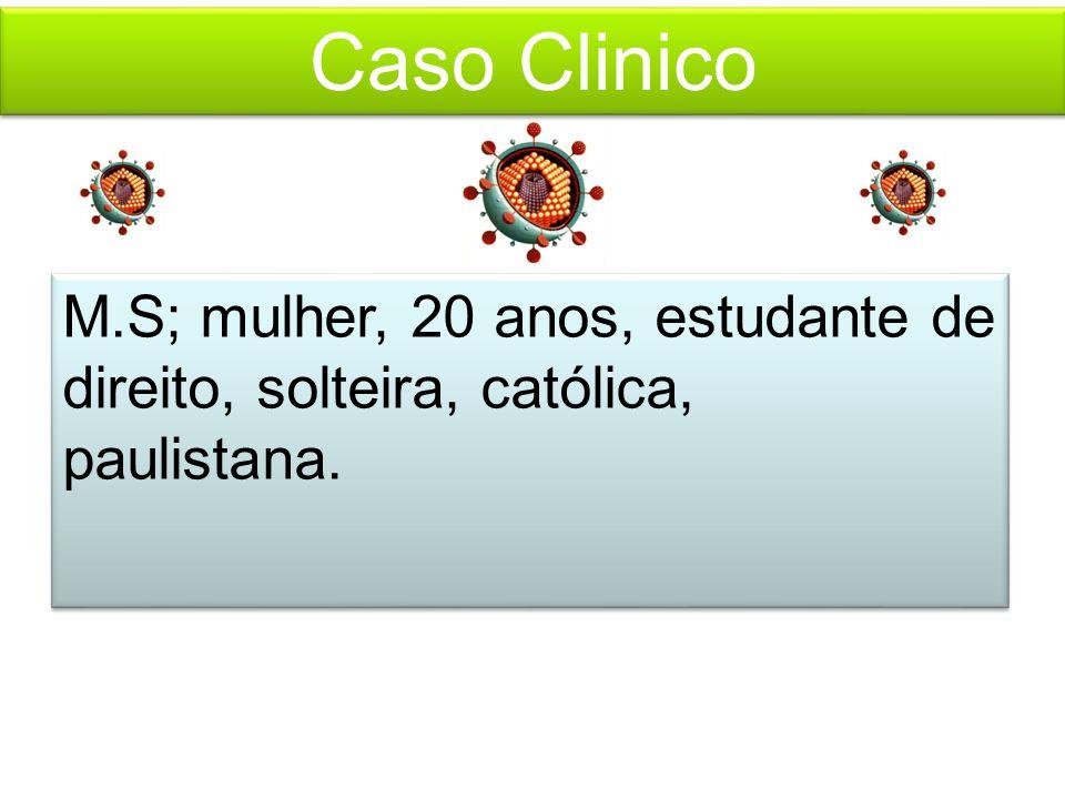 Caso Clinico M.S; mulher, 20 anos, estudante de direito, solteira, católica, paulistana.