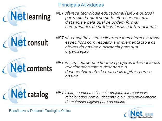 Enseñanza a Distancia Teológica Online Principais Atividades NET oferece tecnologia educacional (LMS e outros) por meio da qual se pode oferecer ensin
