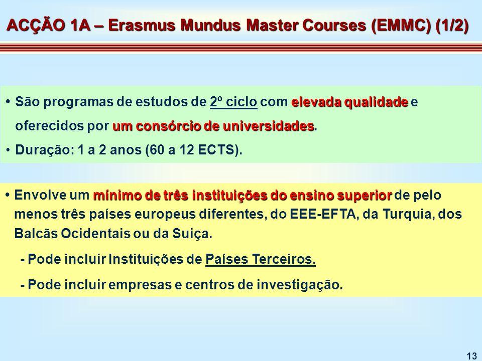 13 elevada qualidade um consórcio de universidadesSão programas de estudos de 2º ciclo com elevada qualidade e oferecidos por um consórcio de universidades.