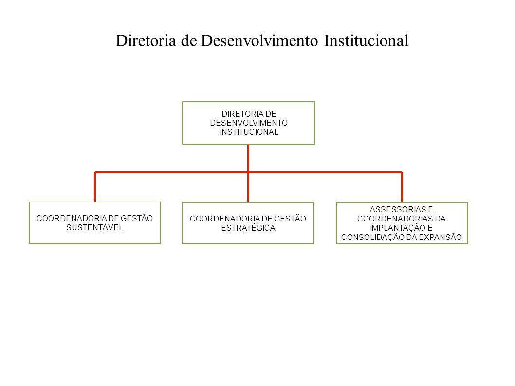 Diretoria de Desenvolvimento Institucional DIRETORIA DE DESENVOLVIMENTO INSTITUCIONAL ASSESSORIAS E COORDENADORIAS DA IMPLANTAÇÃO E CONSOLIDAÇÃO DA EX