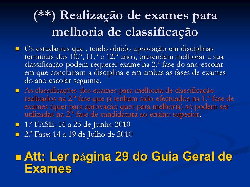 Pré-requisitos A inscrição para os pré-requisitos decorre de 22 de Fevereiro a 19 de Março de 2010 nos estabelecimentos de ensino superior; A avaliação/realização dos pré-requisitos decorre de 5 de Abril a 7 de Maio de 2010; Entregue no acto da candidatura; ou assinalada na candidatura on-line.