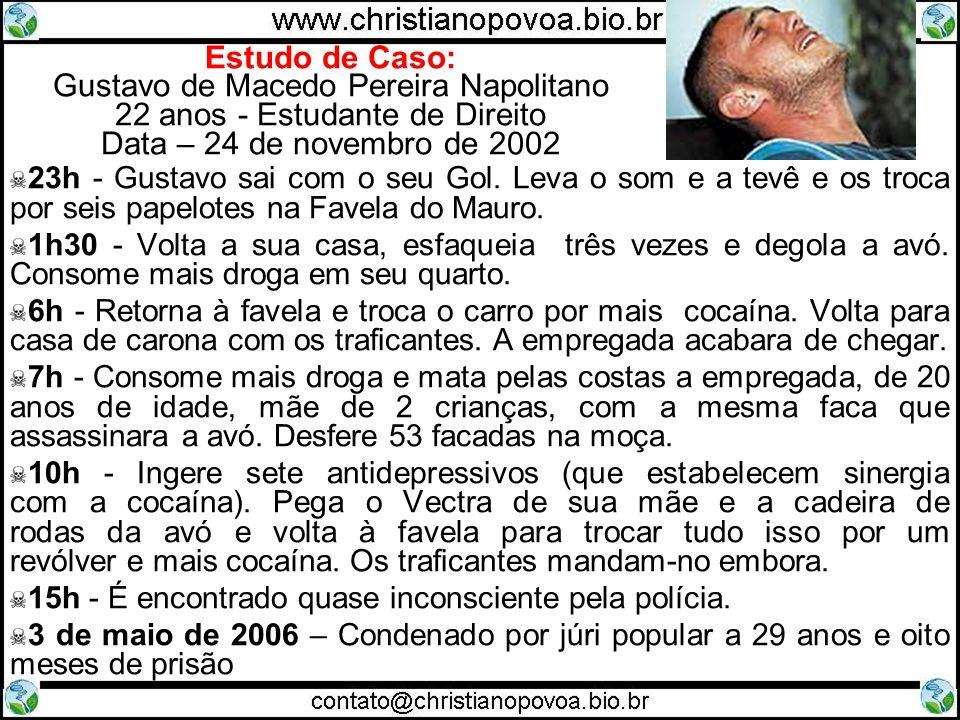 Estudo de Caso: Gustavo de Macedo Pereira Napolitano 22 anos - Estudante de Direito Data – 24 de novembro de 2002 23h - Gustavo sai com o seu Gol. Lev