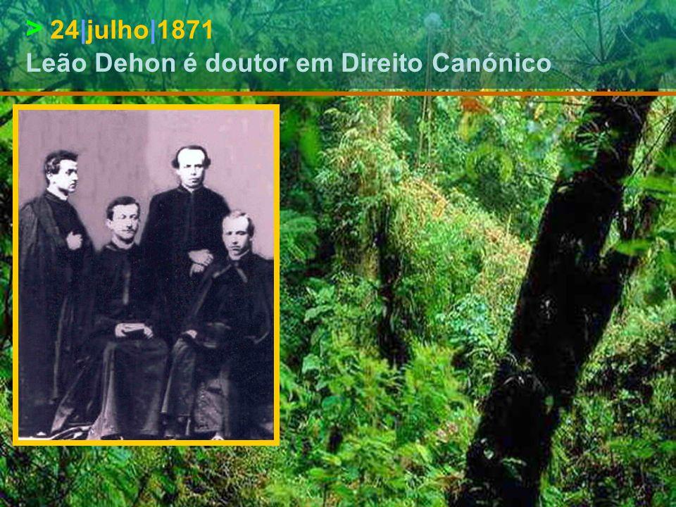 > 6|junho|1871 Leão Dehon é doutor em Teologia