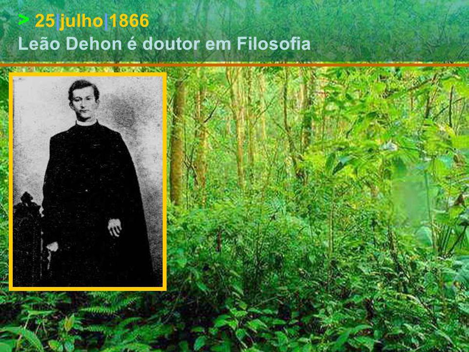 > 25|outubro|1865 – Leão Dehon chega a Roma e entra no Seminário de Santa Clara para se preparar para o sacerdócio
