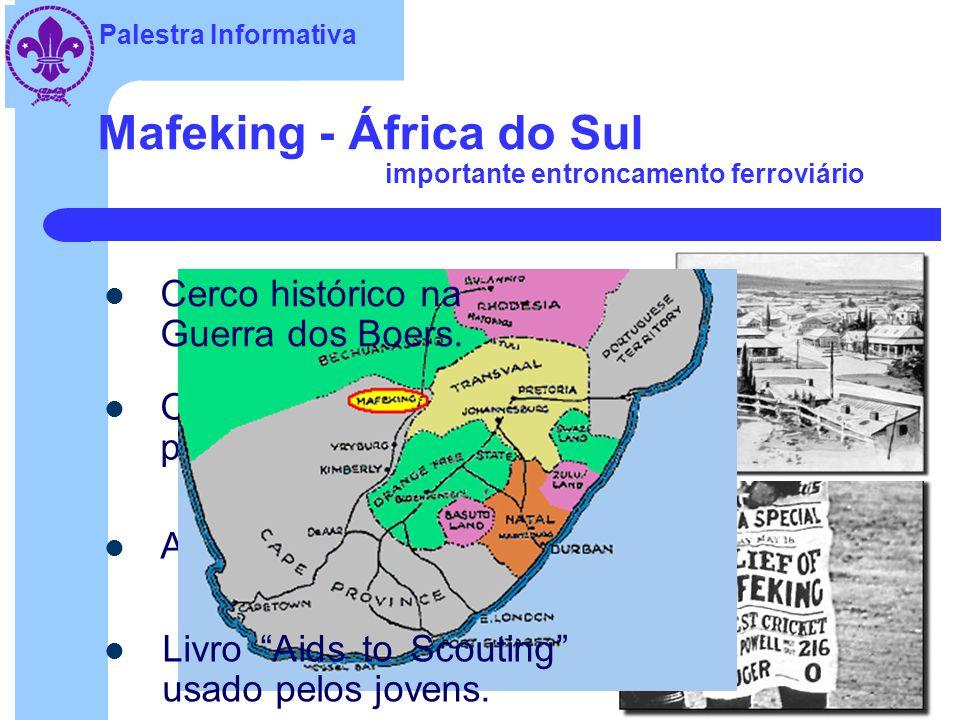 Palestra Informativa Mafeking - África do Sul importante entroncamento ferroviário Organiza adolescentes para serviços auxiliares.