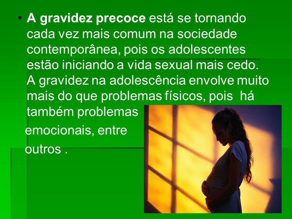 A gravidez precoce está se tornando cada vez mais comum na sociedade contemporânea, pois os adolescentes estão iniciando a vida sexual mais cedo. A gr