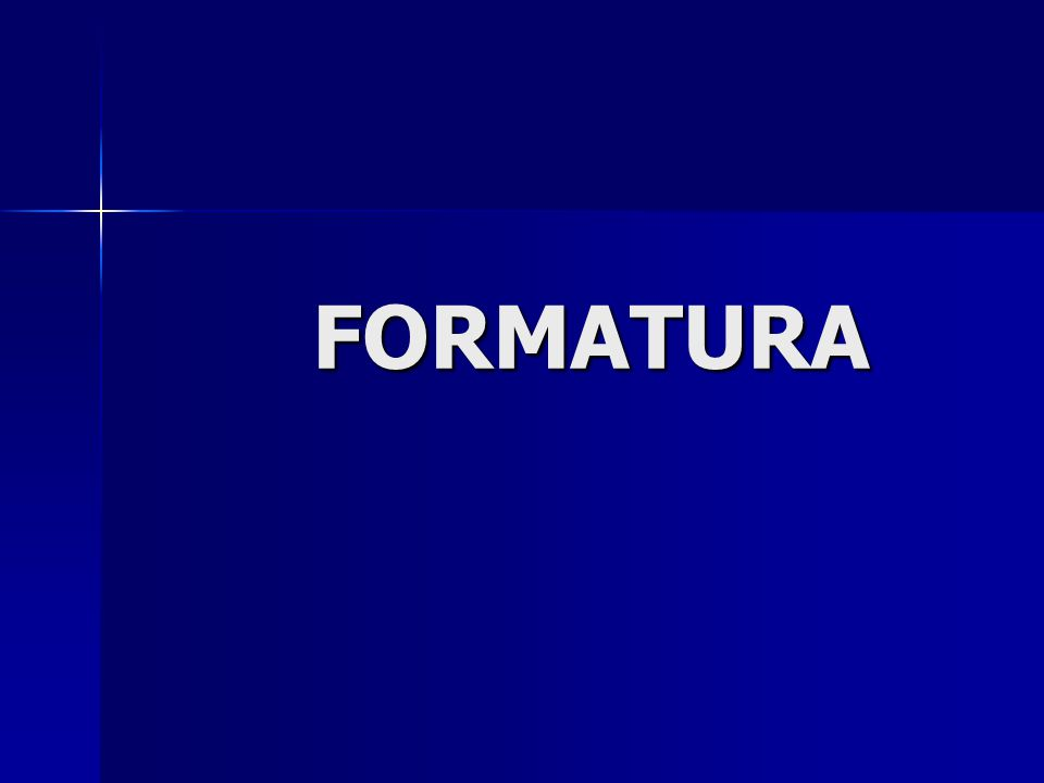 FORMATURA