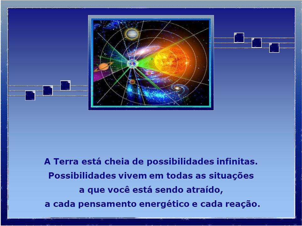 A Terra está cheia de possibilidades infinitas.