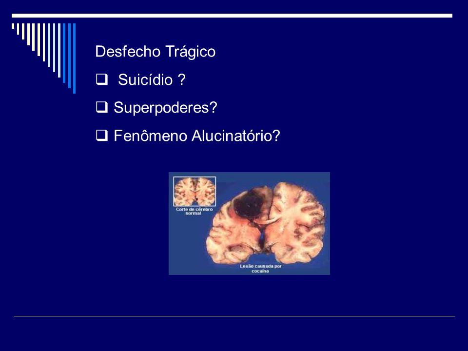 Desfecho Trágico  Suicídio ?  Superpoderes?  Fenômeno Alucinatório?