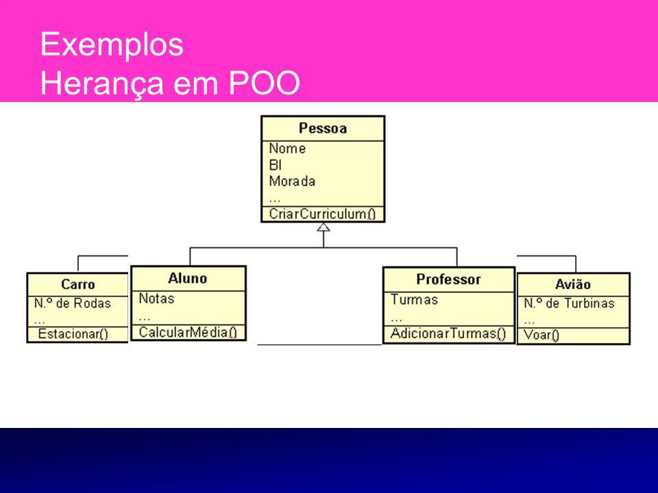 O polimorfismo é uma característica importante da programação orientada a objectos e está directamente ligada à herança entre classes.