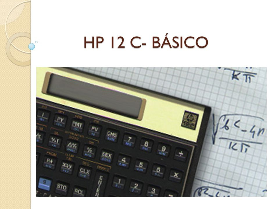 HP 12 C- BÁSICO