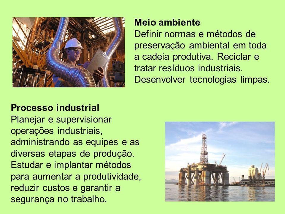 O que você pode fazer Desenvolvimento Criar e aprimorar produtos na indústria química, petroquímica e de alimentos e analisar sua viabilidade técnica