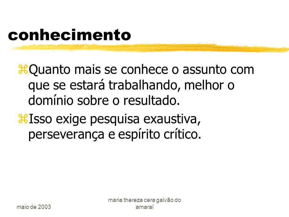 maio de 2003 maria thereza cera galvão do amaral A pesquisa clínica zO porque .