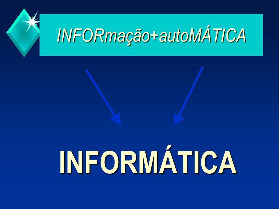 TECNOLOGIAS de INFORMAÇÃO Processos de tratamento, controlo e comunicação de informação, baseados fundamentalmente em computadores.