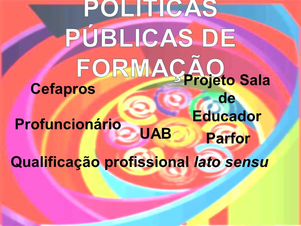 Cefapros Projeto Sala de Educador Qualificação profissional lato sensu Profuncionário UAB Parfor