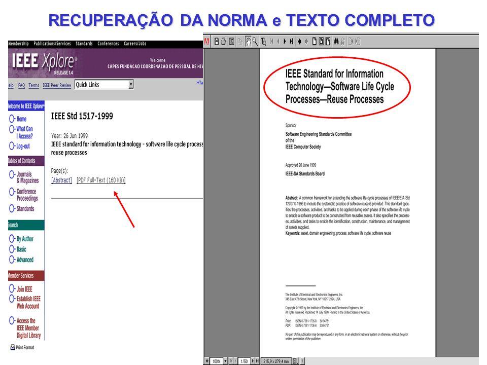 RECUPERAÇÃO DA NORMA e TEXTO COMPLETO