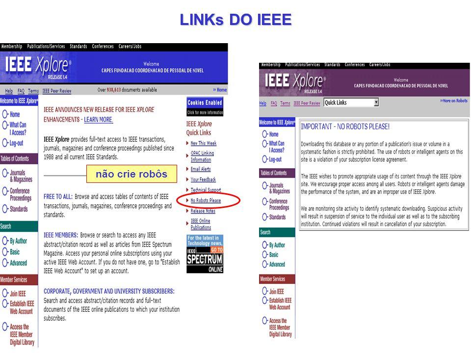 LINKs DO IEEE não crie robôs