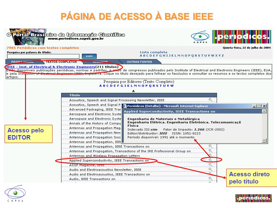 DOCUMENTOS ASSINADOS PELA CAPES