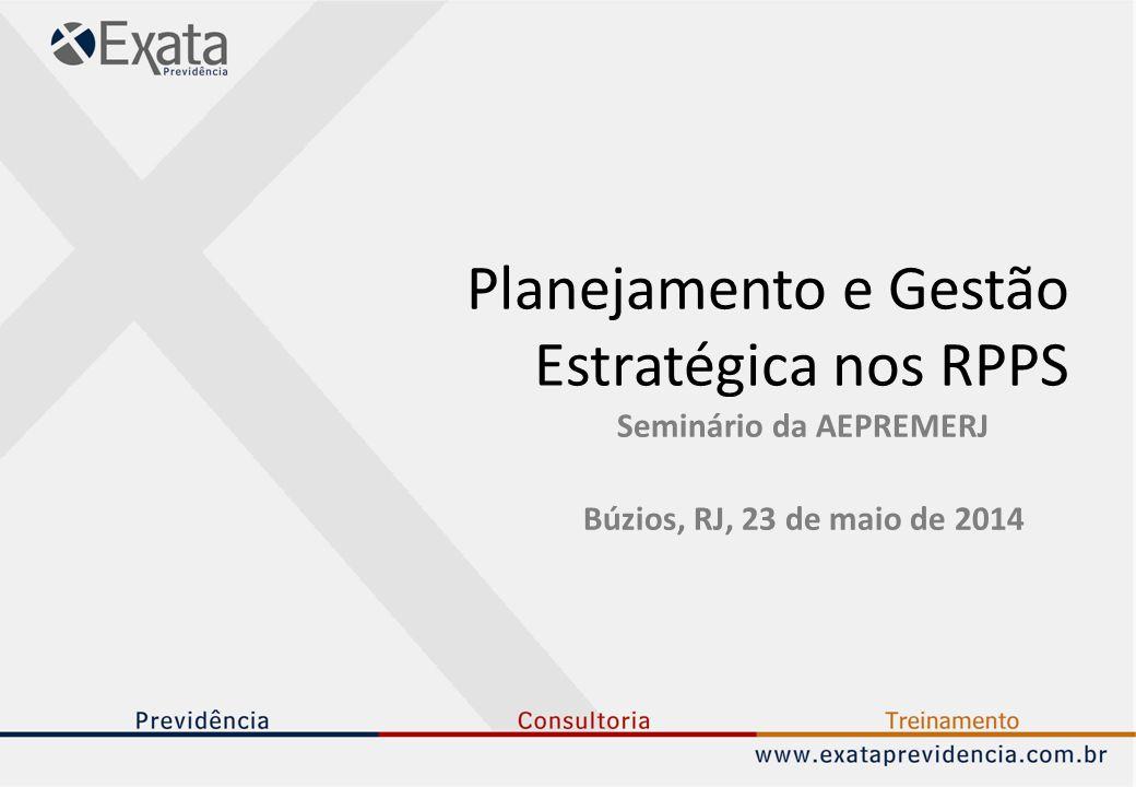 Planejamento e Gestão Estratégica nos RPPS Seminário da AEPREMERJ Búzios, RJ, 23 de maio de 2014