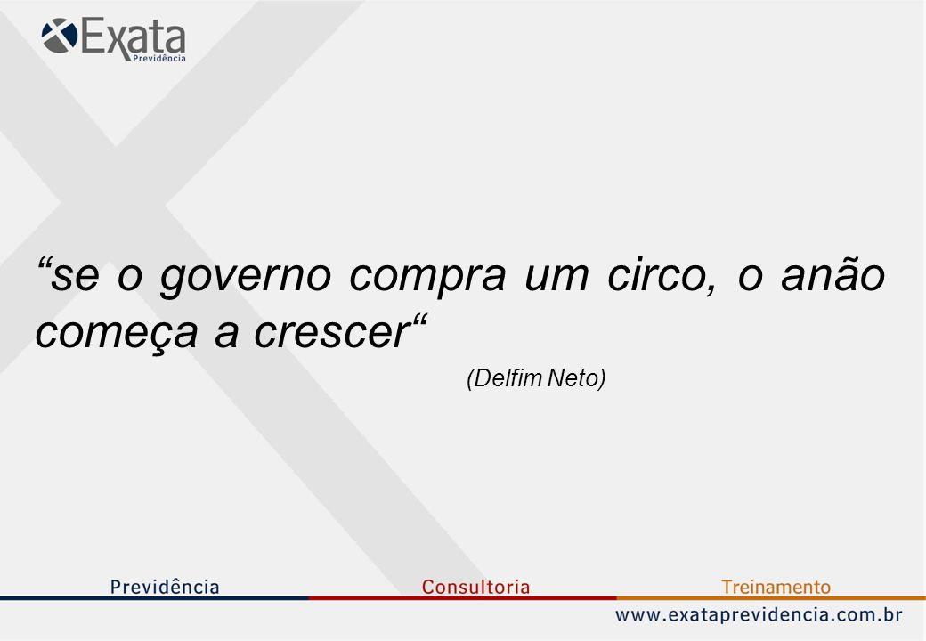 """""""se o governo compra um circo, o anão começa a crescer"""" (Delfim Neto)"""