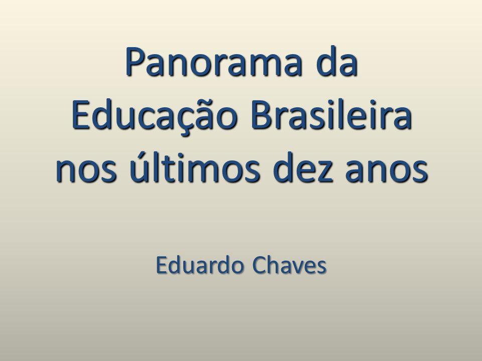 Panorama da Educação Brasileira nos últimos dez anos Eduardo Chaves