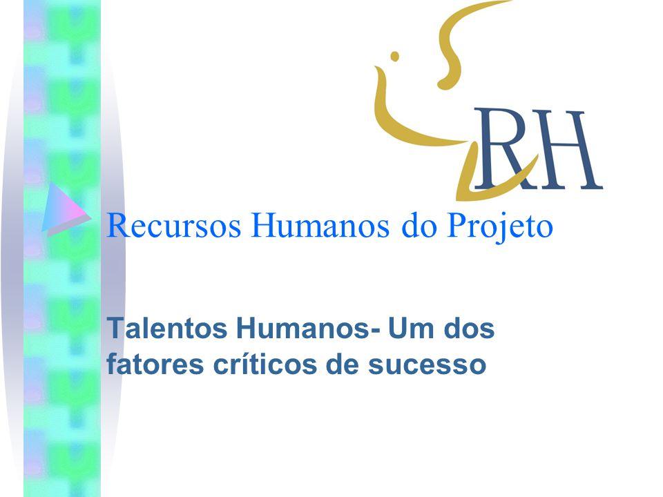 Recursos Humanos do Projeto Talentos Humanos- Um dos fatores críticos de sucesso