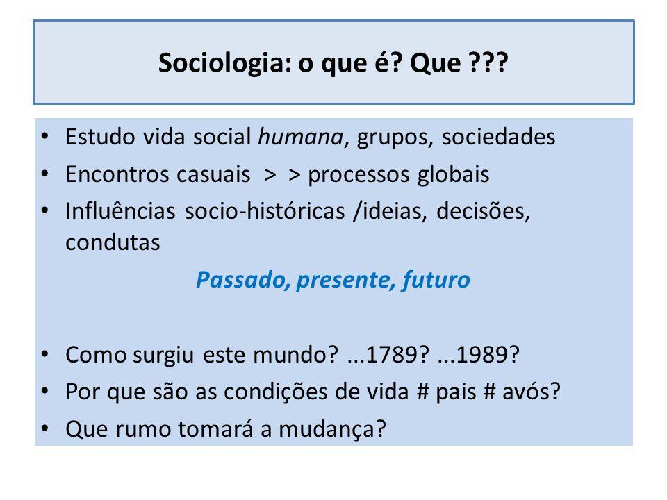 Sociologia: o que é. Que ??.